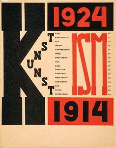 Russian Constructivist cover, Die Kunstismen, 1925, by El Lissitzky. Copyright DACS