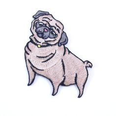 Now you can be just straight puggin' it when you iron this bad boy onto your jacket or tote bag. Part of our Pins, Patches and Flair collection. Size: 3 inches