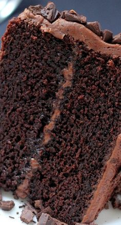 Super Decadent Chocolate Cake with Chocolate Fudge Frosting Recipe ~ YUM!