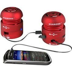 Red Mini Rockers Mobile Speakers  Diamond MSP100R  PRICE DROP!    #red #speaker #Mobile