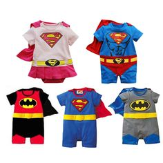 Free shpping! Baby clothes spring and autumn summer super man style romper newborn clothing summer baby bodysuit-inRompers from Apparel & Accessories on Aliexpress.com