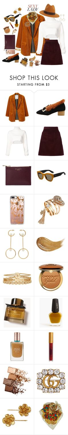 """Sexy Lady"" by hyunaluna ❤ liked on Polyvore featuring MANGO, Alexandre Vauthier, A.P.C., Aspinal of London, Givenchy, Casetify, Chloé, Too Faced Cosmetics, Treasure & Bond and Burberry"