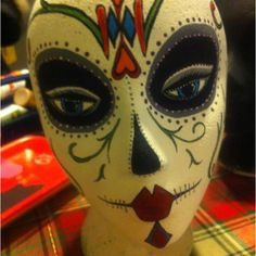 Hand painted styrofoam head:)