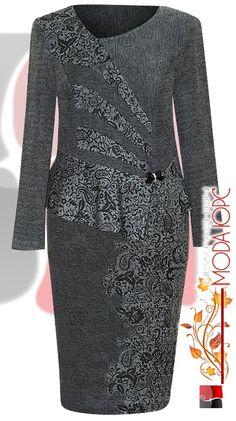 Модели для шикарных женщин. Обсуждение на LiveInternet - Российский Сервис Онлайн-Дневников Batik Fashion, Suit Fashion, Fashion Outfits, Mob Dresses, Sexy Dresses, Dress Outfits, Simple Dresses, Dresses For Work, Batik Dress