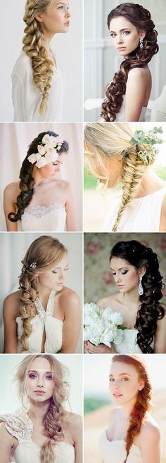 Side-swept Braids Long Wedding Hairstyles