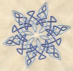 Celtic weave snowflake.  http://www.urbanthreads.com/productImages/thumb/UT3951_thumb2.jpg