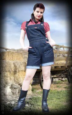 Rumble59 Ladies Denim - Shorts Latzhose/ Playsuit
