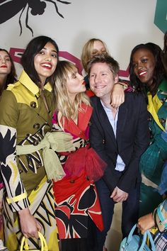 """The Burberry Prorsum womenswear SS15 show in London stepped straight into spring theme, with the collection called """"The Birds And The Bees""""."""