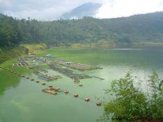 Telaga Menjer terletak di desa Maron, kecamatan Garung, Kabupaten Wonosobo, Jawa Tengah. Telaga ini berjarak sekitar 2 km dari ibukota kecamatan. Dinamakan telaga menjer karena desa Maron sebenarnya merupakan desa baru yang dulunya merupakan wilayah desa menjer.