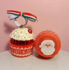 Christmas Cupcake Ornament  Holly Jolly by PrettyWittyCupcakes