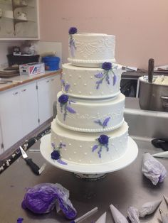 Delicate Details With Purple Accents By Beaverton Bakery