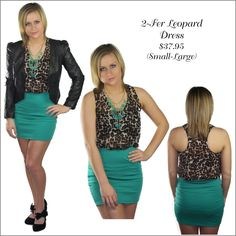 Leopard and Teal Dress