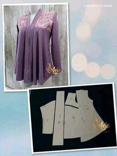 Girl Dress Patterns, Ladies Tops, Kebaya, Dress Making, Girls Dresses, Sewing, Lady, How To Make, Fashion
