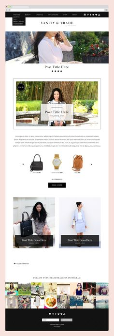 Vanity & Trade Magazine Style Blog Design