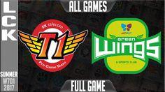 SKT vs JAG ALL FULL GAMES - Week 7 Day 1 LCK Summer 2017 - SKT T1 vs Jin Air Greenwings Full Match
