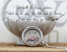 Such a memorable moment should be captured in a locket. Keep it close to your heart! ❤️ Www.southhilldesigns.com/luminousjewels. Artist ID: 552117