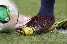 Messi, 4o. Balón de Oro de la FIFA 2012, zapatos conmemorativos.   FC Barcelona, 2 - Málaga, 2.   Copa del Rey. [16.01.13]