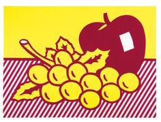 """Roy Lichtenstein: """"Still Life: Apple And Grapes"""", 1972"""