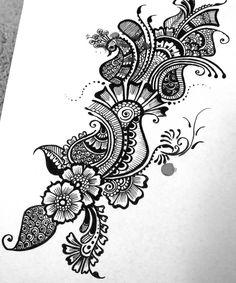 Mehndi design sketches