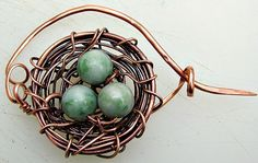 How to Make a Bird's Nest Pin | Art-Z Jewelry