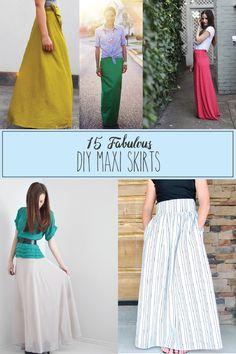 15 Fabulous DIY Maxi Skirts