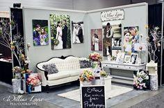 Wedding Trade Show Booth Ideas Willow Lane Photography Bridal Show Booth Bridal Trade Show Booth Ideas<br> Wedding Expo Booth, Bridal Show Booths, Photography Booth, Photography Business, Trade Show Booth Design, Booth Decor, Vendor Booth, Vendor Events, Wedding Fair