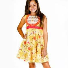 db2b48af2c8 Jelly the Pug Yellow Bee Sweet Priscilla Dress - Infant   Kids