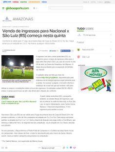 Nacional-AM x São Luiz-RS: Ingressos estão à venda para jogo na Arena