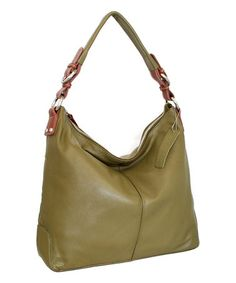 Another great find on #zulily! Loden Green Jara's Gem Leather Hobo by Nino Bossi Handbags #zulilyfinds