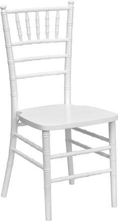 Flash Furniture Flash Elegance Supreme White Wood Chiavari Chair