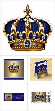 Elegant royal blue prince baby shower gold crowns invitation baby elegant royal blue prince baby shower gold crowns invitation baby shower ideas pinterest gold crown crown and babies filmwisefo