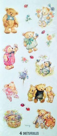 Mary Hamilton Mary's Bears glitter stickers