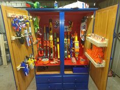 Good idea - my boys need a more organized way for all their Nerf guns.