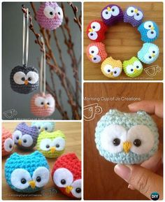 Crochet Baby Owl Ornament Free Pattern-Amigurumi Crochet Owl Free Patterns