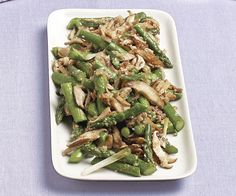 Stir-Fried Asparagus and Shiitake with Ginger and Sesame recipe