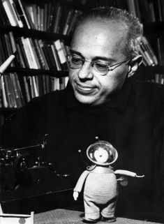 Stanisław Lem, sci-fi writer, philosopher, author of Solaris and The Cyberiad.  Lem was awarded an honorary membership in the Science Fiction Writers of America (SFWA) in 1973. One of first admirers of Philip K Dick. One of the planetoids is named after Lem.