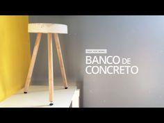 Como Fazer um Banquinho de Concreto Passo a Passo | Revista Artesanato