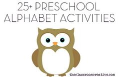 preschool alphabet activities centers ideas games