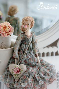 Купить Лаура - тильда, интерьерная кукла, кукла ручной работы, подарок на любой случай, для декора ☆
