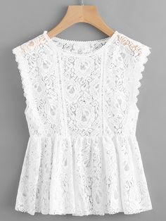 Shop Lace Sleeveless Smock Top online. SheIn offers Lace Sleeveless Smock Top & more to fit your fashionable needs.
