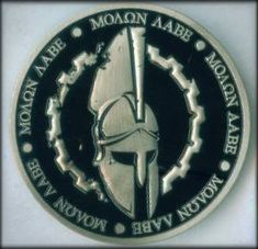 Similar to the Challenge Coins that are used widely by various Military Units… Greek Phrases, Military Challenge Coins, Military Units, Molon Labe, Tactical Patches, Morale Patch, Stippling, Coin Collecting, Toys