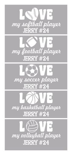 Personalized Sports Vinyl Car Window Decal by LeslieScraps on Etsy