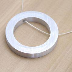 Aluminum Circle Necklace by Natura Metallum