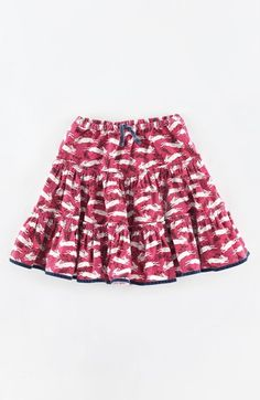 Mini Boden Print Cotton Twirly Skirt (Toddler Girls, Little Girls & Big Girls) Mini Boden, Boden Uk, Sewing Station, Jersey Skirt, Cotton Skirt, Printed Cotton, Boho Shorts, Printer, Kids Fashion
