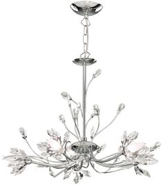 Searchlight Hibiscus 5 Light Crystal Chandelier & Reviews | Wayfair UK