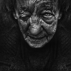 Lee Jeffries is an accountant who takes pictures of homeless people.
