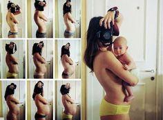 Ideias lindas e divertidas de fotos para acompanhar a gravidez!