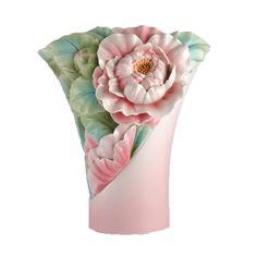 Franz Porcelain Vase - Graceful Blossom - Camellia vase FZ02947 Source: www.franzcollection.com