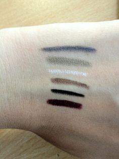 Studio Eyeliner & Shadow Stick - Eyeliner end: Midnight/Blue, Green/Moss, Pearl/Glow, Brown Basic, Black/Smoke and Plum/Purple    http://www.eyeslipsface.com/studio/eyes/eyeliner/eyeliner_and_shadow_stick