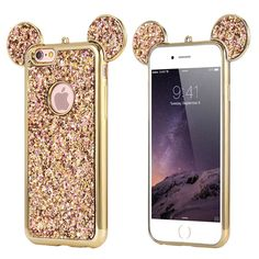 Cartoon Mickey Mouse Ears Sparkling for iPhone 6/6S Phone Case